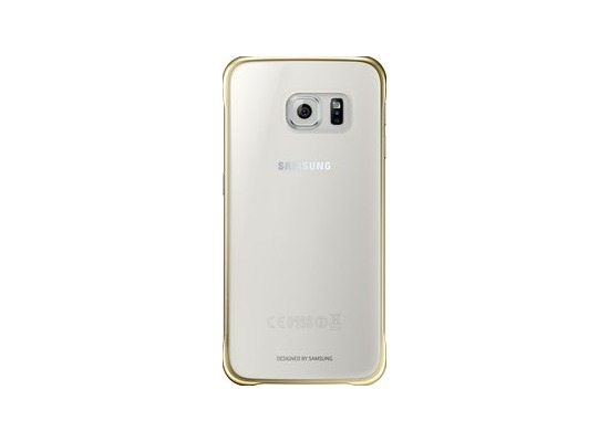 Samsung Clear Cover EF-QG920 für Galaxy S6, Gold