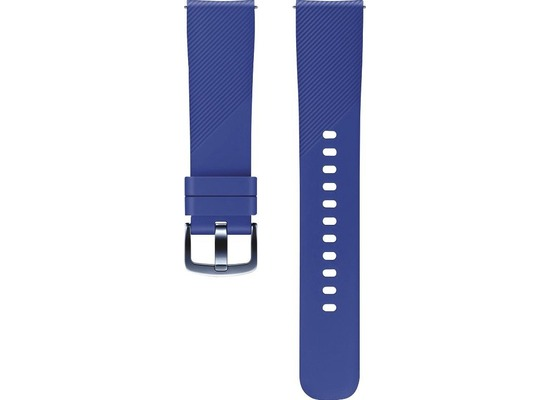 Samsung 20mm Standard-Armband (u.a. für Gear Sport), Silikon, blue