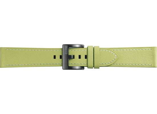 Samsung Classic Leather Armband Strap Studio, 20mm Gear Sport/Galaxy Watch, olive