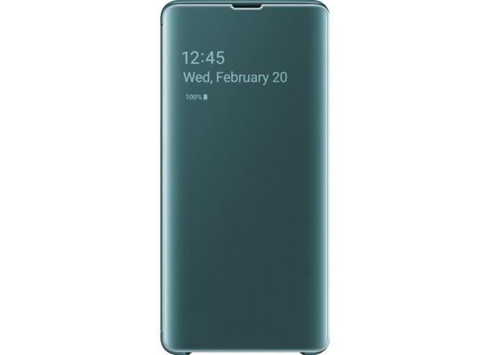 Samsung Clear View Cover Galaxy S10+, green