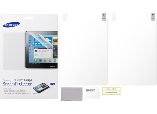 Samsung Displayschutzfolie ETC-P1G2 (2 Stück) für N8000 Galaxy Note 10.1
