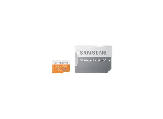 Samsung EVO 16GB microSDHC Karte Class 10 mit Adapter