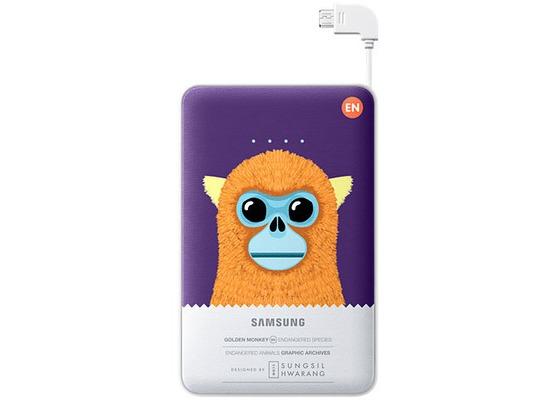 Samsung externer Akkupack 11.300 mAh 2A Micro-USB-Kabel/USB-Port, violet, Monkey