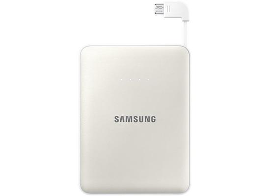 Samsung externer Akkupack 8.400mAh 2A Micro-USB-Kabel/USB-Port, white