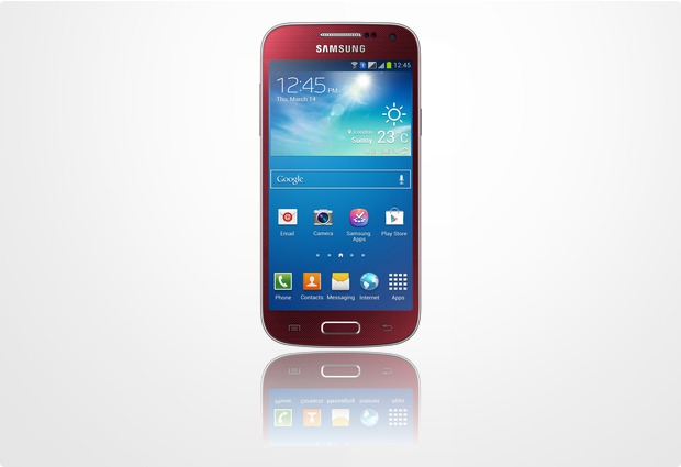 Samsung Galaxy S4 mini, rot