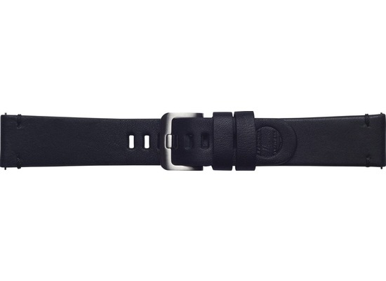 Samsung Leder Armband Essex von Strap Studio (22 mm), Galaxy Watch, black