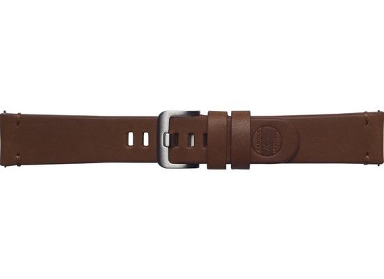 Samsung Leder Armband Essex von Strap Studio (22 mm), Galaxy Watch, brown