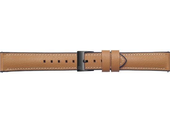 Samsung Leder Armband Urban Traveller von Strap Studio (22 mm), Galaxy Watch, tan