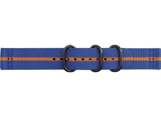 Samsung Premium Nato Armband Strap Studio, 20mm Gear Sport/Galaxy, blue-orange