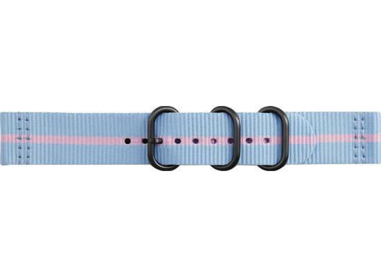 Samsung Premium Nato Armband Strap Studio, 20mm Gear Sport/Galaxy, blue-pink