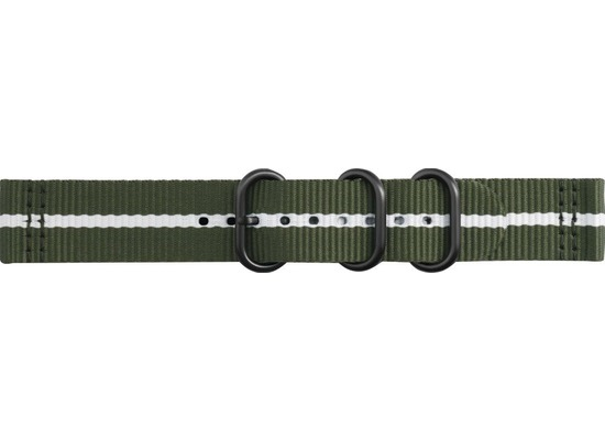 Samsung Premium Nato Armband Strap Studio, 20mm Gear Sport/Galaxy, green-white