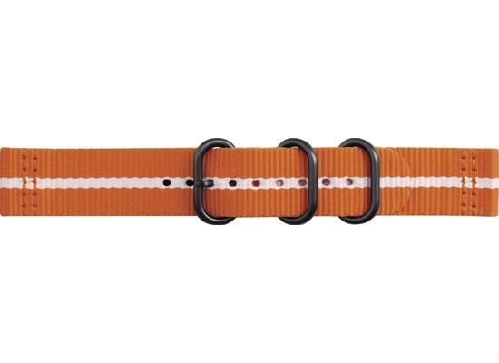 Samsung Premium Nato Armband Strap Studio, 20mm Gear Sport/Galaxy, orange-white