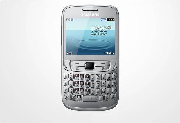 Samsung Ch@t 357, silver-white