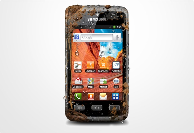 Samsung S5690 Galaxy Xcover, silber-grau