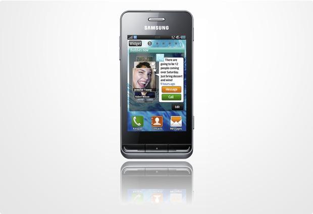 Samsung Wave 723, titan-grau