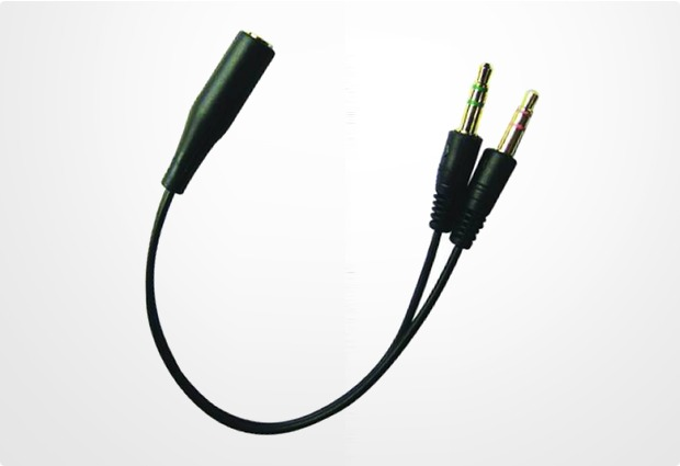 Sandberg A/S Headset Konverter 1x 3,5 mm Klinkenbuche zu 2x 3,5 mm Klinkenstecker (Apple-Belegung)