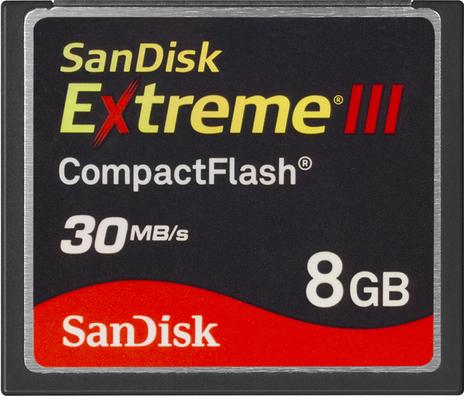 Sandisk Extreme III CompactFlash 8 GB 30MB/s