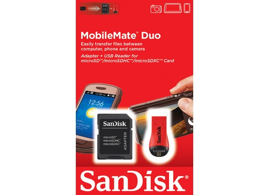Sandisk USB 2.0 SDHC/microSDHC Card Reader MobileMate Duo, Retail-Blister