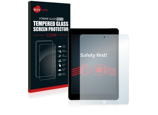 Savvies Xtreme Glass HD33 Clear Panzerglasfolie für Apple iPad Pro (9.7)