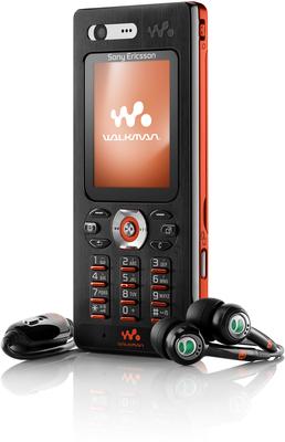 Sony Ericsson W880i, schwarz