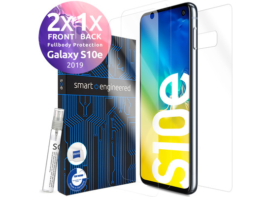 smart engineered 3D Schutzfolien für Samsung Galaxy S10e, 2x Premium HD Displayschutzfolien, 1x Folie Rückseite [FULLBODY SET]