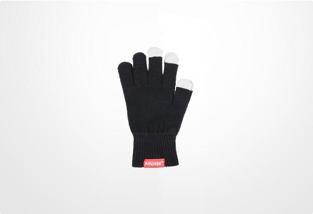 FitCase Touchscreen-Handschuhe (kapazitiv) Größe M, schwarz
