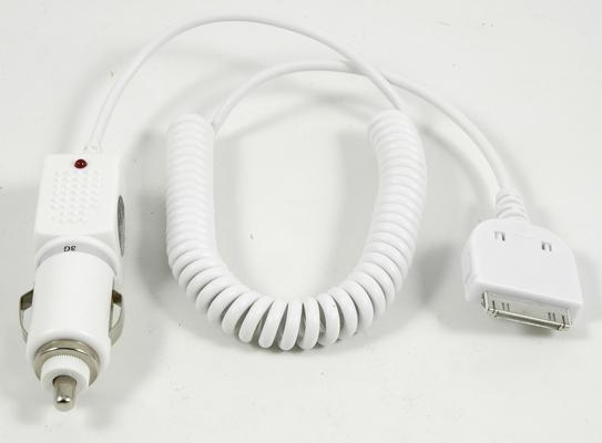 KFZ-Ladekabel weiss für iPhone 3G