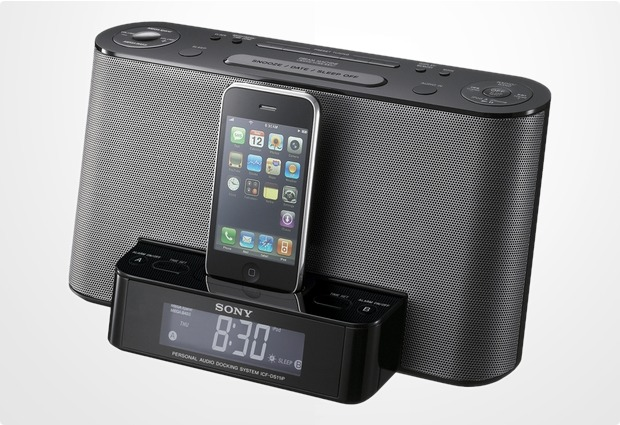 Sony Dockingstation-Uhrenradio ICF-DS11IP f�r iPhone, iPod