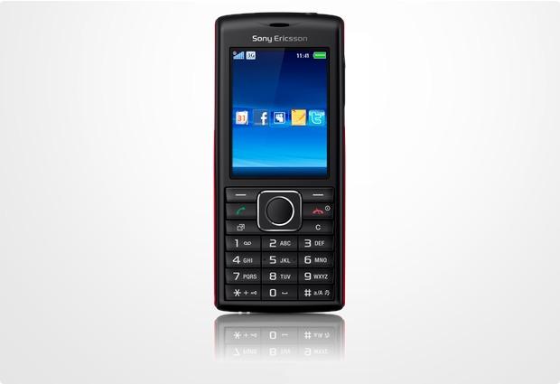 Sony Ericsson Cedar, schwarz-rot