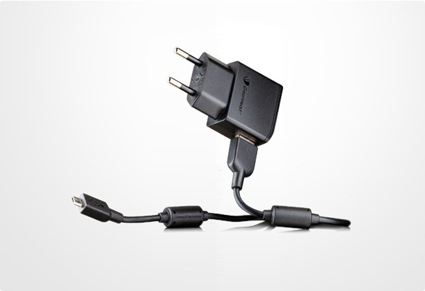 Sony Ericsson Micro-USB Ladegerät EP800 GreenHeart