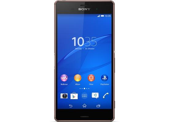 Sony Xperia Z3, kupfer