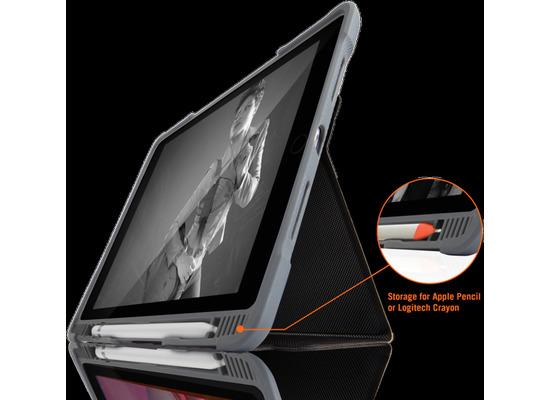 STM Dux Plus DUO Case, Apple iPad 10,2 (2019), schwarz/transparent, STM-222-236JU-01