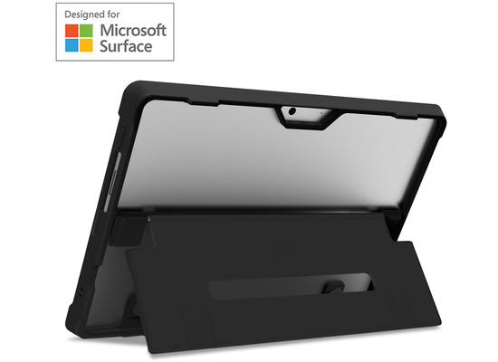 STM Dux Shell Case, Microsoft Surface Pro X, schwarz/transparent, STM-222-261L-01