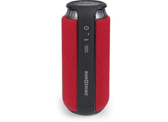 swisstone BX 500 (schwarz-rot) Bluetooth-Lautsprecher