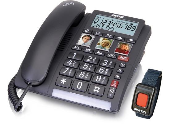 Switel TF560 - Komfort-Telefon mit großen Tasten und Notrufsender