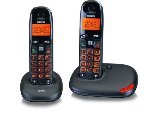 switel vita dc5002 schnurloses dect telefon set schwarz. Black Bedroom Furniture Sets. Home Design Ideas