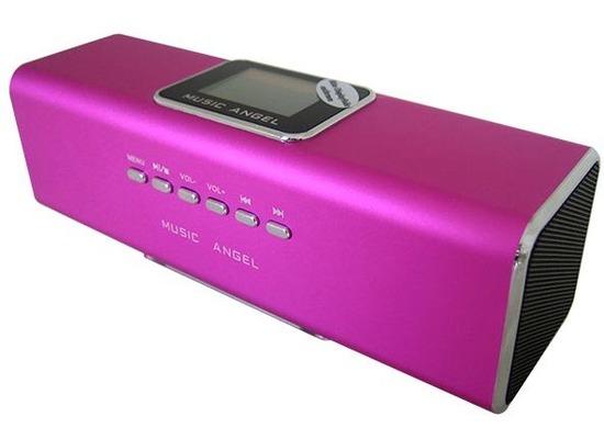 @tec Music Angel 6in1 Mini Stereo Lautsprecher 6 Watt (2x 3W) Boxen in Pink