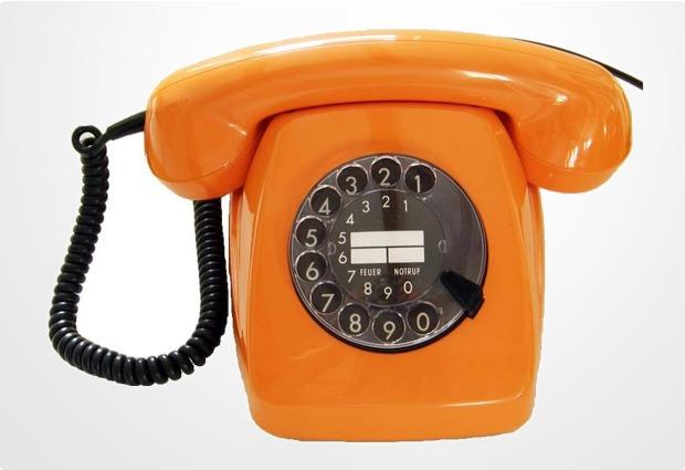 hdk nostalgietelefon fetap 611 w611 orange bei kaufen versandkostenfrei. Black Bedroom Furniture Sets. Home Design Ideas