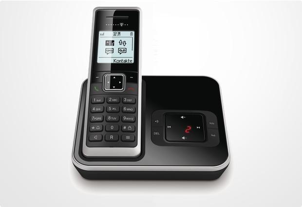 Telekom Sinus A206, schwarz-silber