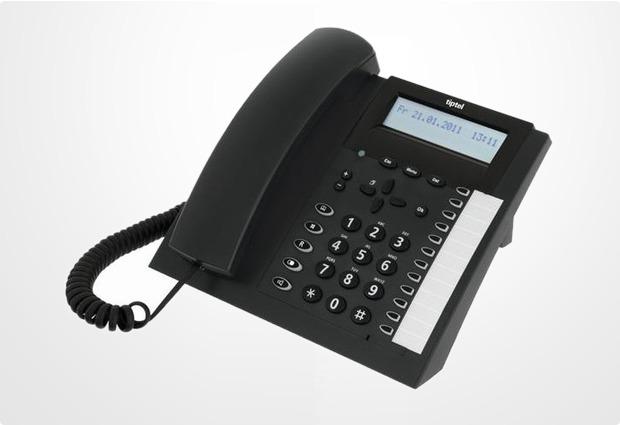 Tiptel 2020 ISDN, anthrazit