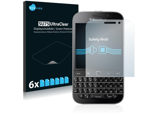 Twins 6x SU75 UltraClear Displayschutzfolie für Blackberry Classic Q20