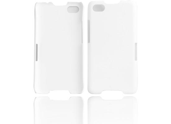Twins Shield Matte für Blackberry Z30, weiß