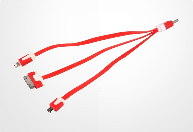 Twins USB-4in1-Ladekabel, Red Dragon Edition