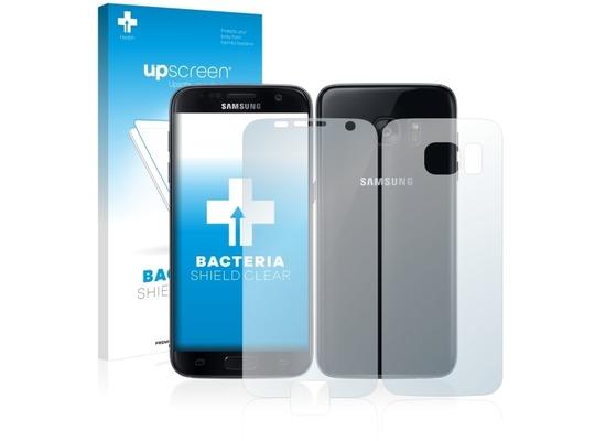 upscreen Bacteria Shield Clear Premium Displayschutzfolie für Samsung Galaxy S7 (Vorder + Rückseite)