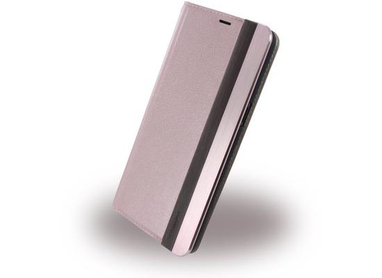 Uunique Wooden/Aluminium - Book Cover - Samsung Galaxy S8 Plus - Pink
