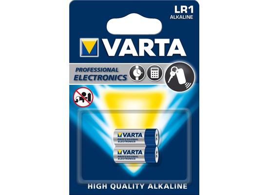VARTA Batterie Alkaline - 4001 - LR1/Lady - 1.5V Professional Electronics - (2-Pack)