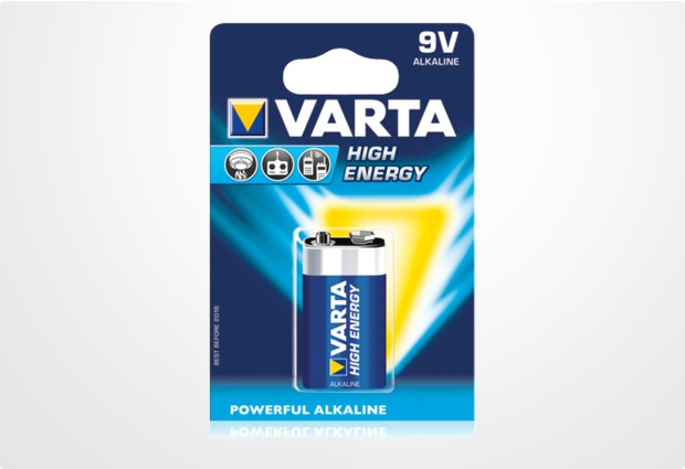 VARTA High Energy 9V-Block Batterie (1 Stück)