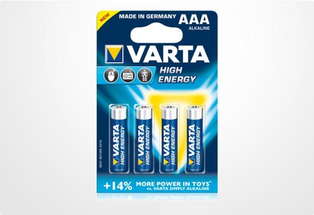 VARTA High Energy Micro AAA Batterie (4 Stück)