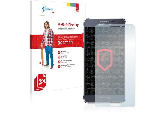 Vikuiti 3x MySafeDisplay Displayschutzfolie DQCT130 von 3M passend für Samsung Galaxy Alpha SM-G850F
