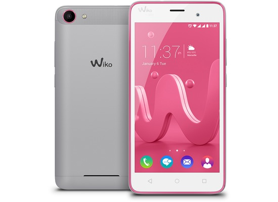 Wiko Jerry, pink/silber